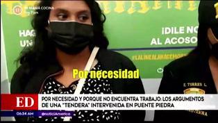 Puente Piedra: 'Tendera' asegura que roba porque no encuentra trabajo