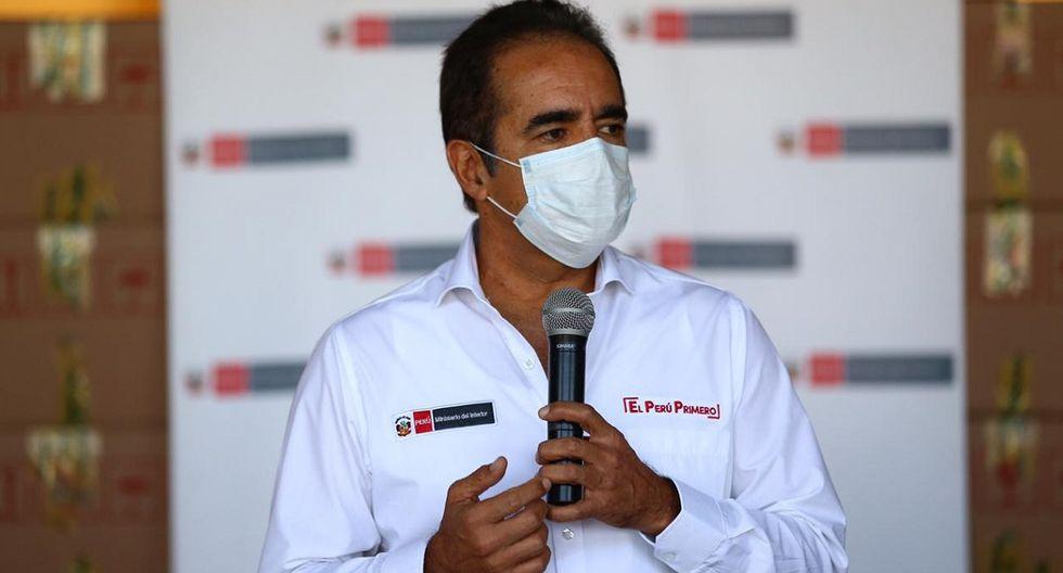 Titular del Mininter dio detalles sobre la situación de la PNP en pandemia del COVID-19. (Foto: HugoCurotto/Gec)