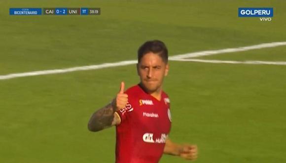Alejandro Hohberg ya tiene cinco goles con camiseta de Universitario de Deportes. (Captura: Gol Perú)
