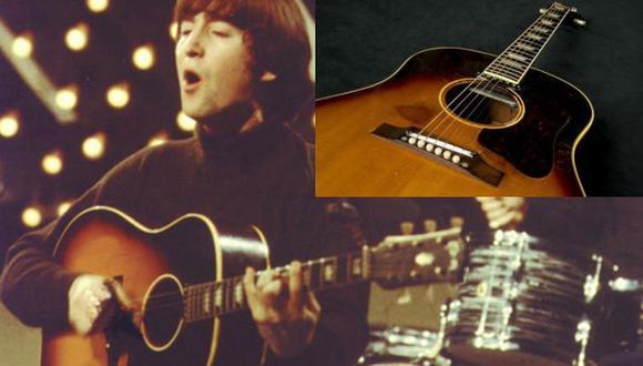 John Lennon: Subastan guitarra acústica del líder de The Beatles por US$2.4 millones. (AP)