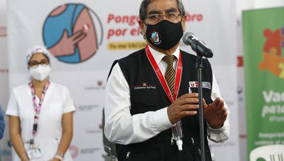 El ministro de Salud, Óscar Ugarte, se pronunció sobre el caso de Sinopharm.  (Foto: Archivo GEC)