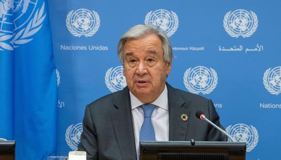 El secretario general de la ONU, Antonio Guterres, recordó que cualquier ataque indiscriminado contra estructuras civiles y de medios de comunicación viola el derecho internacional. (EFE/Eskinder Debebe/ONU).