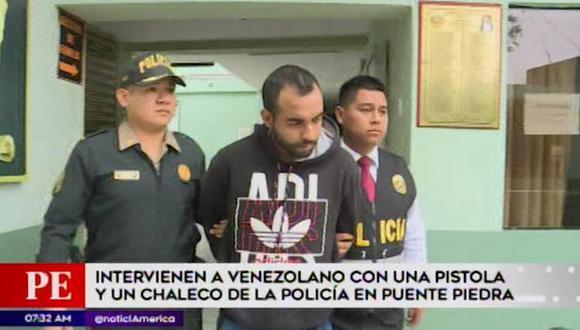 Ciudadano de nacionalidad venezolana detenido llegó al Perú hace tres meses. (Captura: América Noticias)