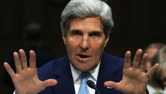 John Kerry durante su alocución en el Senado de EEUU. (AFP)