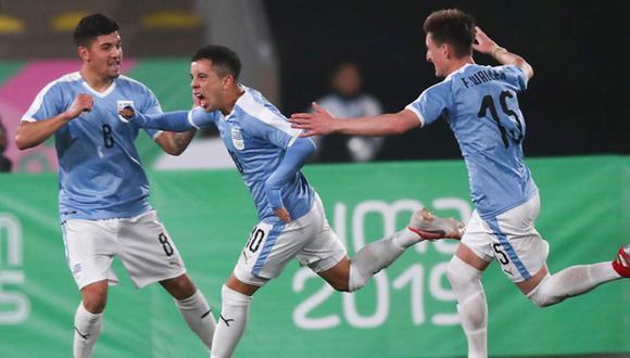 Uruguay vs. Honduras se miden en el fútbol masculino de los Juegos Panamericanos. (Foto: Carlos Lezama / Lima 2019)