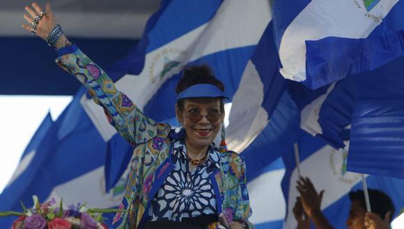 La vicepresidente de Nicaragua, Rosario Murillo, emitió polémicas declaraciones en cadena nacional.   Foto: AP