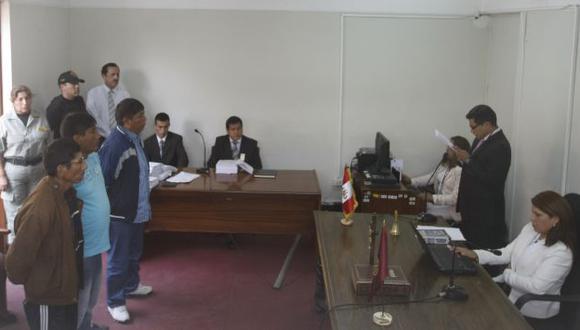 APELARON. Los tres condenados se mostraron en contra del fallo emitido por el 24 Juzgado Penal. (Mario Zapata)