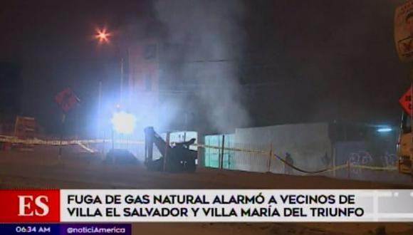 Fuga de gas en Villa El Salvador. (Foto: Captura de video / América Noticias)