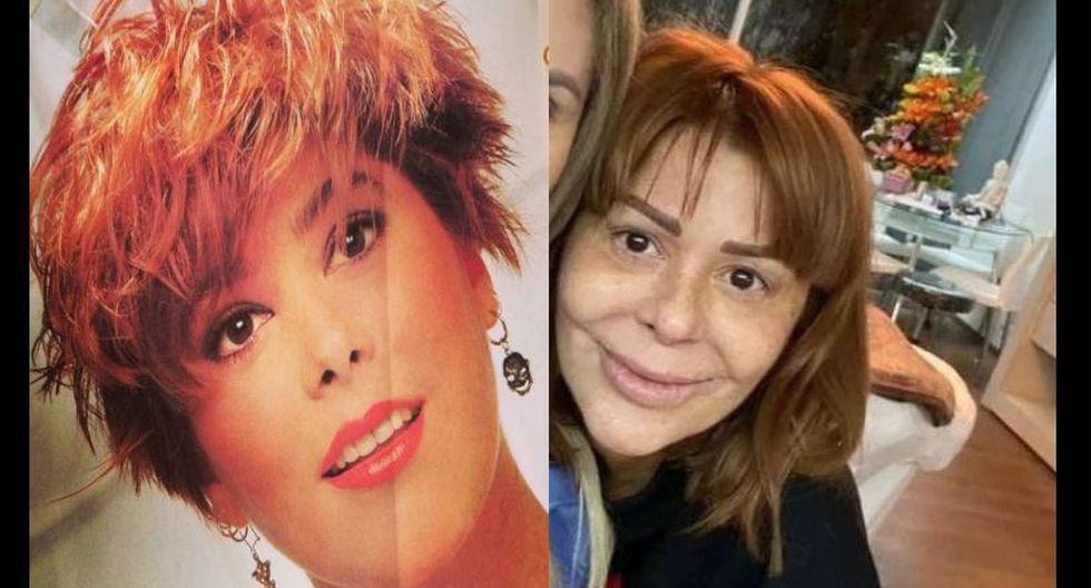 Alejandra Guzmán y su irreconocible rostro tras retoques, tratamientos y cirugías. (Composición)