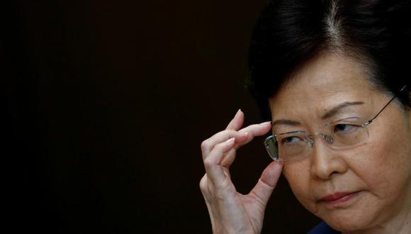 """""""Es imperdonable que un jefe de gobierno haya provocado tal caos en Hong Kong"""", se oye decir a Lam en la grabación. (Foto: Reuters)"""