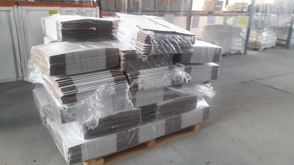 Las cajas de cartón con el clorhidrato de cocaína iban a ser enviadas a Bélgica a través del puerto de Paita. (PNP)