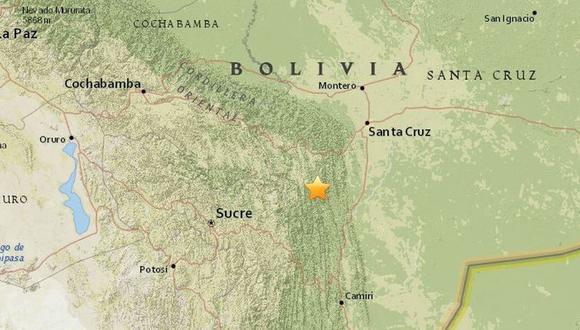 Sismo de 5 de magnitud en Bolivia. (Foto: USGS)