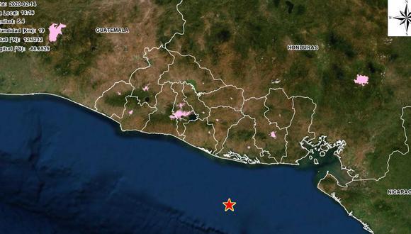 Ministerio salvadoreño indicó que el sismo fue frente a la costa del departamento de Usulután, a unos 54 kilómetros al sur de la Península San Juan del Gozo. (Twitter)