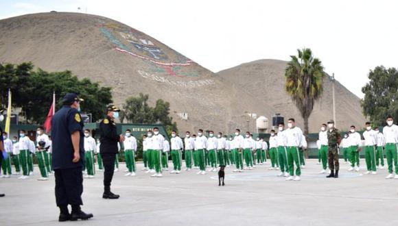La Policía Nacional informó también que el total de sus alumnos infectados se encuentran asintomáticos. (Policía Nacional)