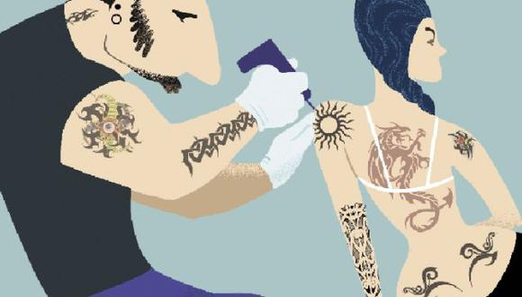 En Lima, hay entre 30 y 40 artistas vinculados al negocio de grabar la piel. (Perú.21)