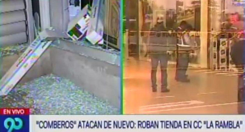 San Borja: Asaltan centro comercial 'La Rambla' (Latina)