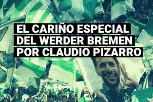 Alemania: Ídolo total, Claudio Pizarro recibió el cariño y respeto de los hinchas del Werder Bremen