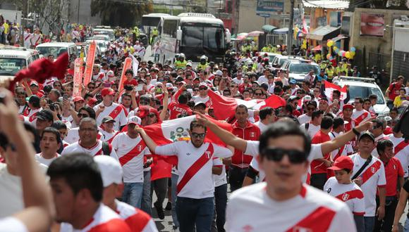 Hinchas peruanos se concentrarán en el Campo de Marte. (USI)