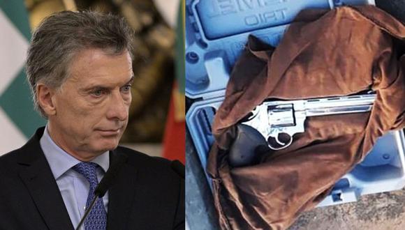 Hombre intentó ingresar a la Casa Rosada con un revólver para ver a Mauricio Macri. (AFP / @InfodigNews)