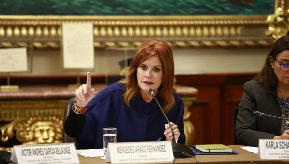 La congresista Mercedes Araoz destacó que existen diferencias entre la primera iniciativa sobre inmunidad parlamentaria y la presentada ayer. (Foto: Congreso / Video: Congreso TV)