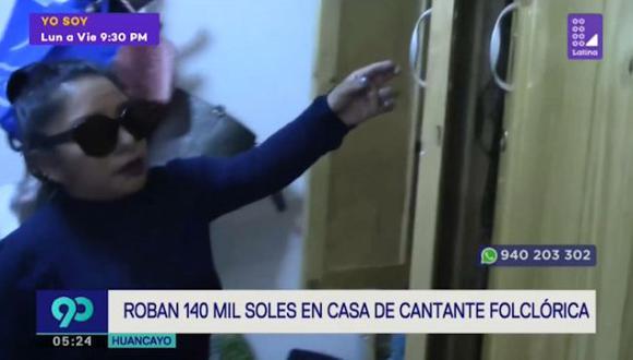 Delincuentes aprovecharon que cantante se encontraba dando un concierto en la provincia de Espinar, en Cusco.