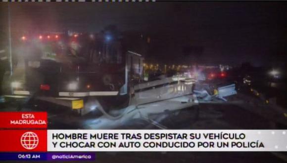 No se descarta que la víctima haya estado escribiendo por el celular poco antes del accidente. (Foto: Captura/América Noticias)