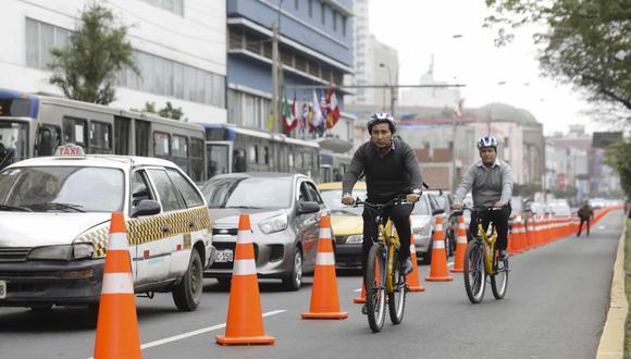 La Municipalidad de Lima implementó a fines de marzo el carril exclusivo para ciclistas. (Difusión)