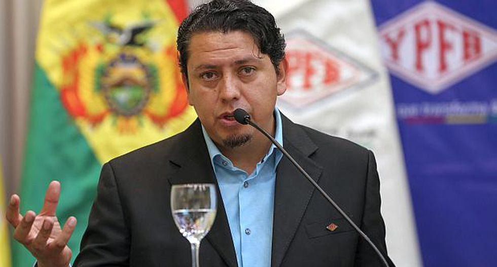 Óscar Barriga,presidente de YPFB, hizo el anuncio sobre los planes de internacionalización de la empresa estatal. (Foto: EFE)