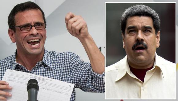 CNE de Venezuela tiene 5 días para verificar firmas para revocar a Nicolás Maduro, advierte Henrique Capriles. (EFE/AFP)