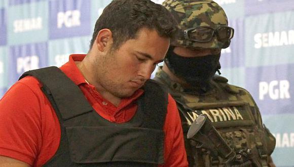 Guzmán Salazar fue presentado bajo fuertes medidas de seguridad. (Reuters)