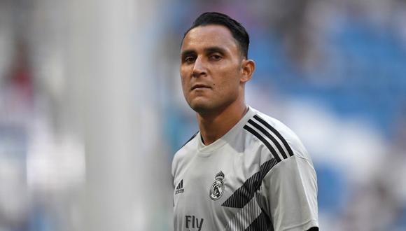 El gesto de Keylor Navas previo al choque de Liga Santander (Foto: AFP).