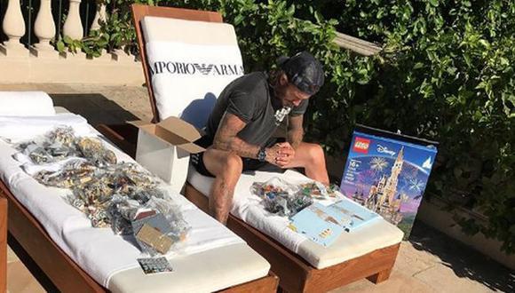 David Beckham vive uno de los momentos más complicados de su vida al tratar de armar un castillo de Lego para su hija (Instagram)