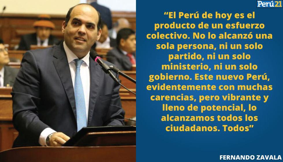 Revisa aquí las mejores frases del discurso de Fernando Zavala. (Perú21)