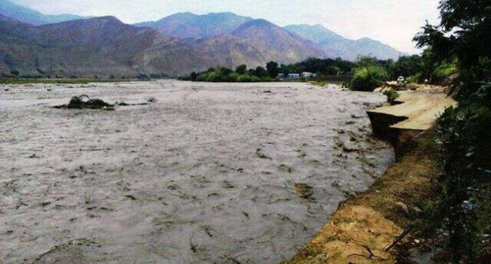 Aumentó  el caudal del río Chicama. (@wifrasani)