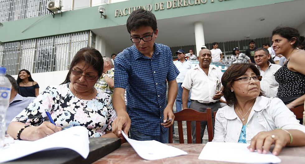 Antonia Castro fue designada rectora interina de la UNMSM. (Anthony Niño de Guzmán)