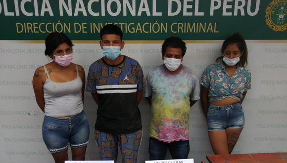 Los cuatro presuntos delincuentes fueron capturados en flagrante delito. (GEC)