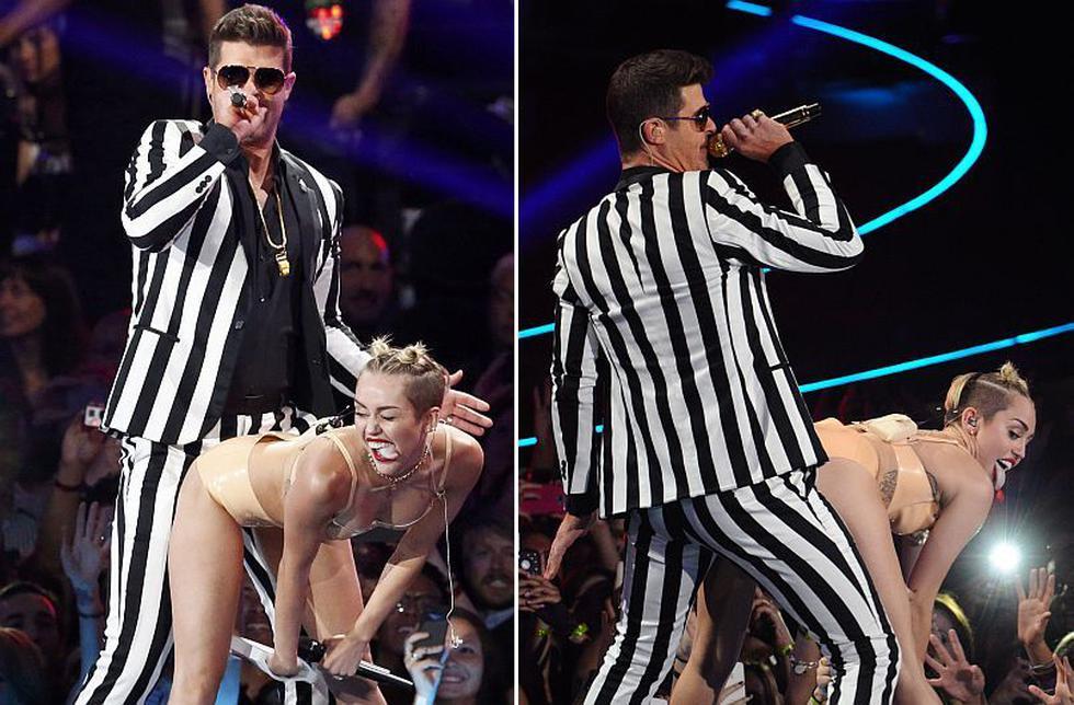 Miley Cyrus no dejó nada a la imaginación con su presentación en los MTV Video Music Awards. (Reuters/AP)