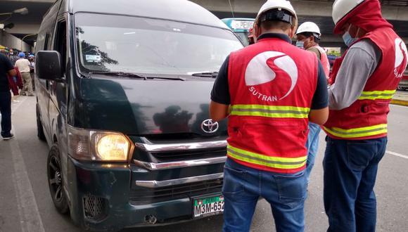El personal de Sutran realizará los operativos en carreteras y en terminales autorizados. (MTC/Twitter)