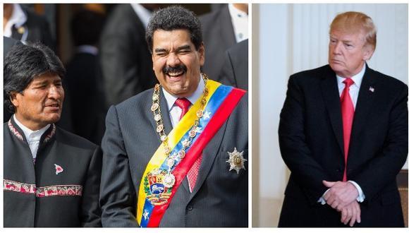 Evo Morales respaldó a gobierno venezolano de Nicolás Maduro (Efe/AFP).