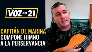 Capitán de fragata compone himnos por la lucha contra el coronavirus