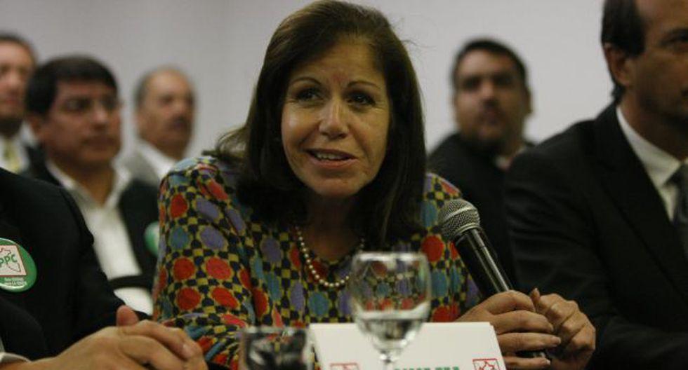 Lourdes Flores admite que fue antiaprista. (Mario Zapata)