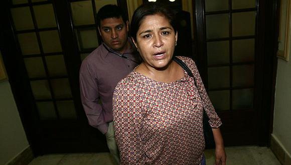 Nancy Obregón rechazó imputaciones del fiscal Héctor de la Cruz. (David Vexelman)