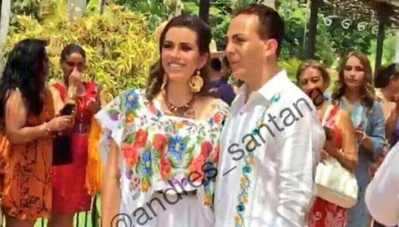 Cristian Castro se casó con su novia, la violinista Carol Urban Flores (@andres_santana)