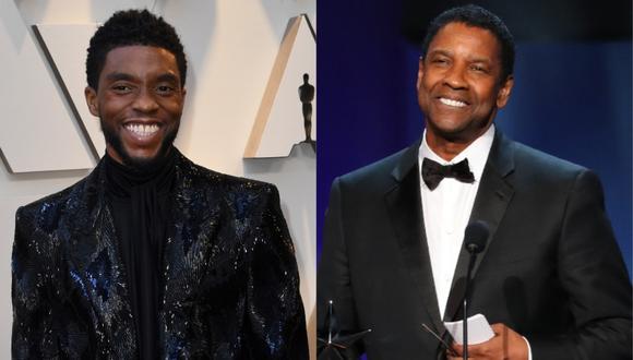 Denzel Washington pagó los estudios de Chadwick Boseman, y él se enteró de esta manera. (Foto: AFP/Mark RALSTON/Jean-Baptiste LACROIX)
