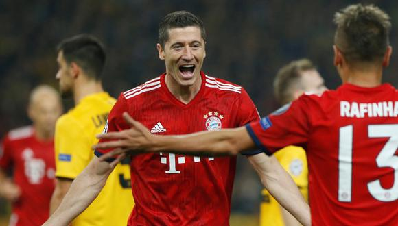 Bayern Munich vs. AEK: Robert Lewandoski sumó 47 tantos en Champions League. (Foto Reuters / Video ESPN)