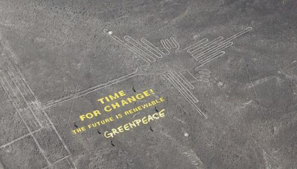 Perú informó a la Unesco sobre daños causados por Greenpeace en las Líneas de Nasca. (Andina)