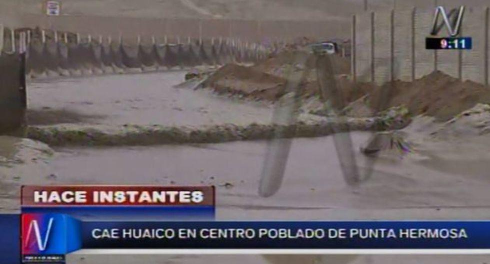 Punta Hermosa: Huaico cayó en centro poblado Pampa Pacta. (Canal N)