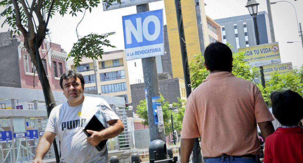 Susana Villarán y la campaña por el 'no'. (USI)