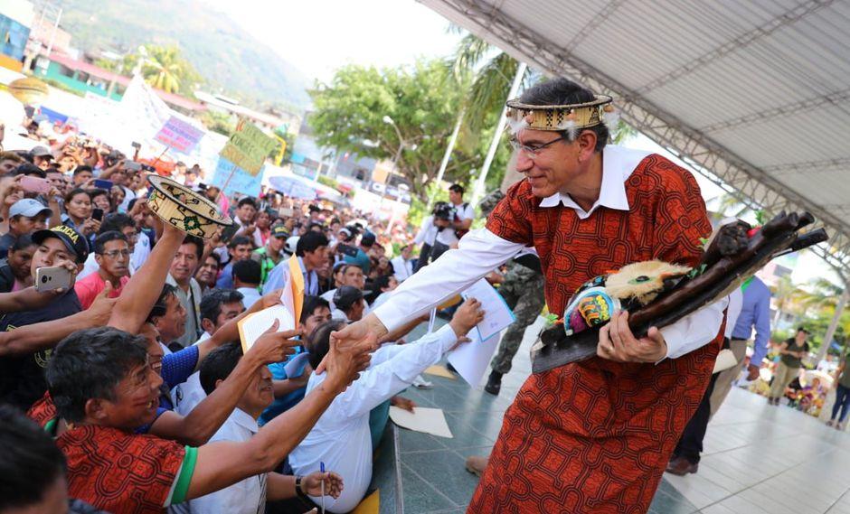 El presidente Martín Vizcarra realizó diversas actividades en Junín, desde donde dijo estar de acuerdo con la decisión del Poder Judicial sobre PPK. (Foto: Difusión)