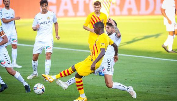 Ousmane Dembélé marcó el gol del 1-0 ante Nastic. (Foto: FC Barcelona)